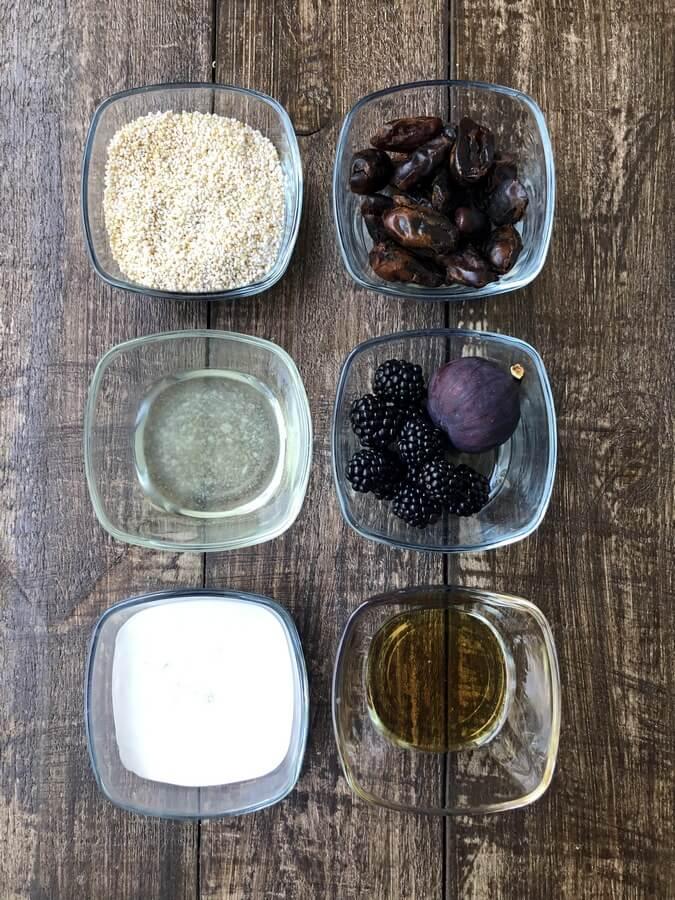 Tartaletki z amarantusem, jeżynami i figami
