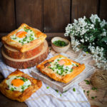 Ciasto francuskie z jajkiem